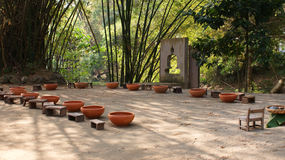Spa garden. This is a thai foot garden.there is thai hdrb in the pot.for good health royalty free stock photos
