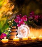 Spa in garden royalty free stock photos