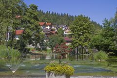 Spa garden of Mittenwald Stock Photo