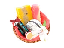 Spa gift basket Stock Image