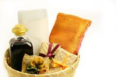 Spa gift basket stock photography