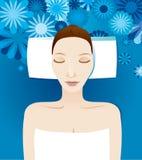 Spa girl. Beautiful spa girl - vector illustration Royalty Free Stock Image
