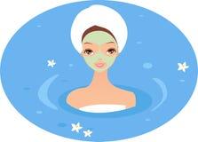 Spa Girl Royalty Free Stock Photos