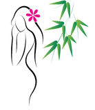 Spa girl. Illustration of spa girl on white background royalty free illustration