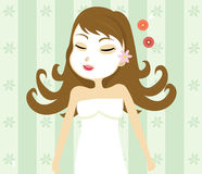 SPA girl. Vector illustration of a girl doing spa Royalty Free Stock Image