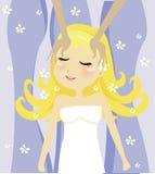 SPA girl royalty free illustration