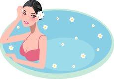 Spa girl. Vector illustration of spa girl Stock Photo