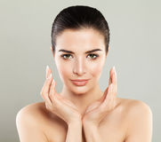 Spa Girl. Beautiful Model Woman with Healthy Skin, Cute Face Stock Image
