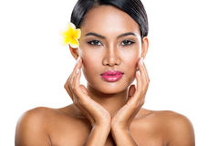 Spa girl. With beauty healthy skin Royalty Free Stock Photos