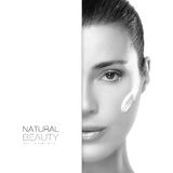 Spa Girl. Beauty and Skincare concept. Template Design stock photos