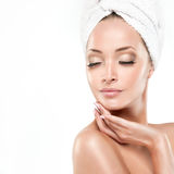 Spa Girl  with clean skin Royalty Free Stock Photography