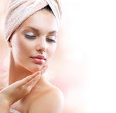 Spa Girl. Skincare Royalty Free Stock Photography