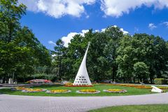 Park in the Spa. Spa with graduates in the city of Inowrocław, Poland Royalty Free Stock Images