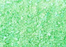 Spa green bath salt crystals background texture Stock Image