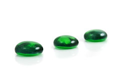 Spa green shiny stones Royalty Free Stock Images