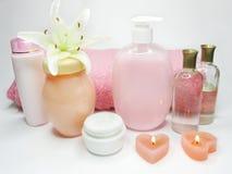 Free Spa Hair Mask Tonic Essences Liquid Soap Stock Photo - 13686240