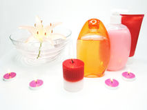 Free Spa Hair Mask Tonic Essences Liquid Soap Stock Photography - 13908702