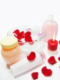 Spa hair mask tonic essences liquid soap Royalty Free Stock Photo