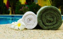 Spa handdukar Fotografering för Bildbyråer