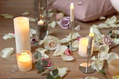 Spa, health and wellness concept with rose petals Royalty Free Stock Photo