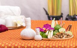 Spa herb and objects for Thai spa. Spa herb and objects for Thai Massage spa Stock Images