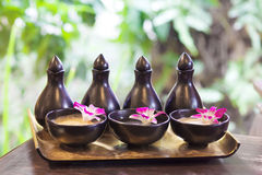 Spa. Herb and relax in aromatherapy Royalty Free Stock Photography