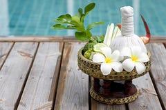 Spa Herbal compress ball Royalty Free Stock Photos