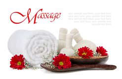 Spa herbal compress massage Stock Image