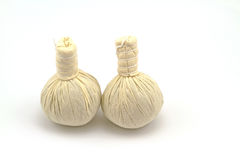 Spa herbal compressing ball on white background Royalty Free Stock Image