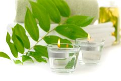 Spa with herbal tincture Royalty Free Stock Image