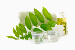 Spa with herbal tincture Royalty Free Stock Photography
