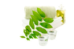 Spa with herbal tincture Stock Photo