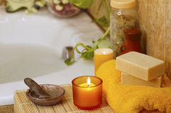 Spa in home bathroom Royalty Free Stock Image