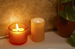 Spa in home bathroom Stock Photo