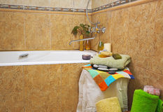 Spa in home bathroom Stock Photo