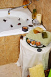Spa in home bathroom Stock Images