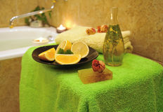 Spa in home bathroom Royalty Free Stock Photos