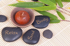 Spa hot stones Royalty Free Stock Images