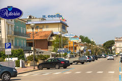 Spa hotels on the coast in Cervia, Italy Stock Image