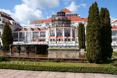 The Spa house. View of Sopot Spa house royalty free stock photos