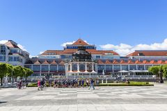 Spa House at the Baltic sea, near the Pier, Sopot, Poland. SOPOT, POLAND - JUNE 5, 2018: Spa House at the Baltic sea, near the Pier Stock Image
