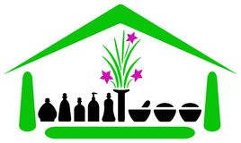 Spa house emblem Royalty Free Stock Photo