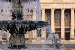 Spa house and fountain in  Wiesbaden Stock Images