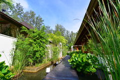 Spa house of a luxury beach resort Stock Photography