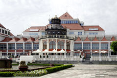 Spa house of Sopot in Poland. Spa house in the Polish Baltic resort of Sopot in Poland Royalty Free Stock Photos