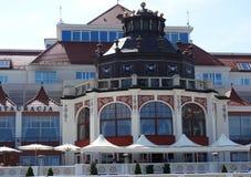 Spa hus i Sopot royaltyfri fotografi