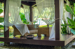 Spa hut. In a tropical resort Royalty Free Stock Photos