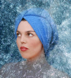 Spa and hydrotherapy. Woman in water Royalty Free Stock Image
