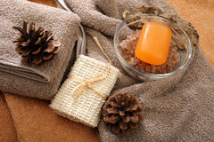 Spa and hygiene accessories Royalty Free Stock Images