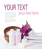 Spa and hygiene concept, isolated, ready template Royalty Free Stock Photography